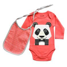 Panda onesie and bib set