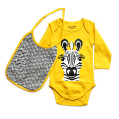 Zebra onesie and bib set
