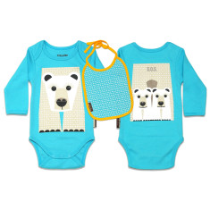 Polar bear onesie & bib set