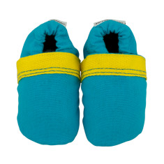 Boldly blue fabric baby shoes
