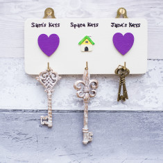 Personalised House Key Hook set