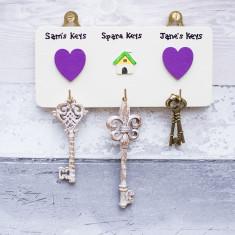 Personalised House Key Hook set