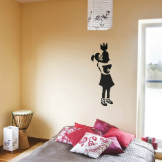 Banksy Bomb Girl wall sticker