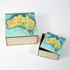 Australia map personalised box