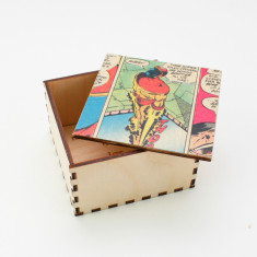 Personalised superhero cufflink box