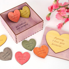 Mother's Day personalised message token box