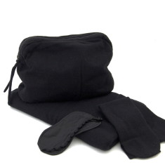 Cashmere travel set in black
