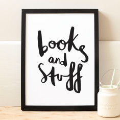 Books and stuff print