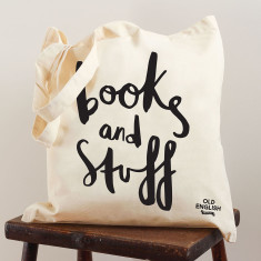 Books and stuff tote bag