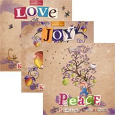 Love, Joy, Peace Christmas book gift set