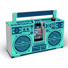 Berlin Boombox mobile cardboard speaker in mint