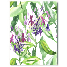 Botanical garden stroll canvas