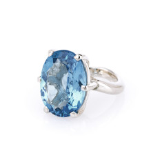 Bounty's fortune blue topaz ring