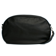 Leather Dasher Bag - Black