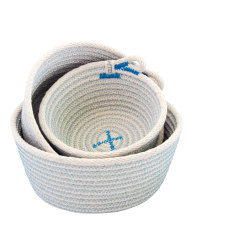Rope Basket Set - Blue