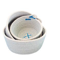Rope Basket Set - Blue