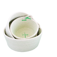 Rope Basket Set - Green