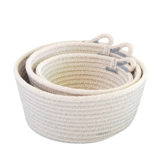 Rope Basket Set - Grey
