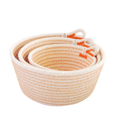Rope Basket Set - Orange