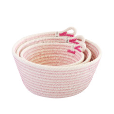 Rope Basket Set - Pink
