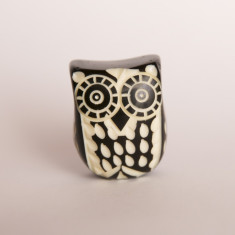 Boxed owl knob/drawer pull