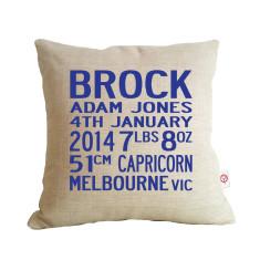 Boys' bus scroll birth cushion covers (various colours)