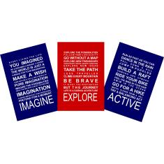 Boys adventures A3 prints (set of 3)