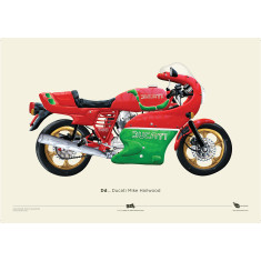 Ducati Mike Hailwood + Garelli motorcycle prints
