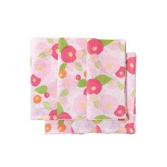 Linen napkins in Jaipur pink & green floral napkins (set of 6)