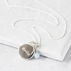 Sterling Silver Personalised Birthstone Pendant