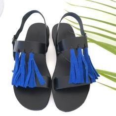 Blue Tassel Sandalaki Shoe