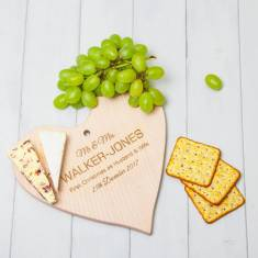 Personalised Wooden Heart Cheeseboard