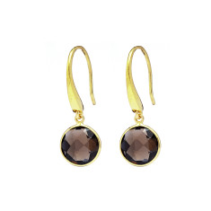 Sofia Gemstone Drops With Smoky Quartz