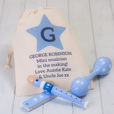 Children's Musical Instruments Set in a Personalised Bag
