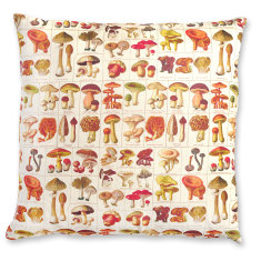 Champignons linen cushion cover