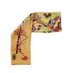 Hummingbird silk neck tie