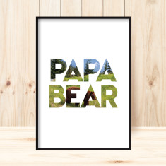 Papa bear art print for dad
