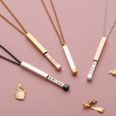 Personalised Secret Message Slider Necklace