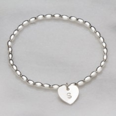 Safi personalised heart bracelet