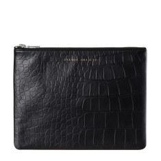 Antiheroine leather wallet in black croc