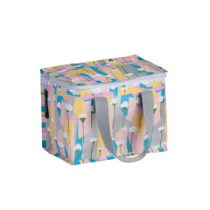 Insulated lunch box bag in Pastels Poppies by Leah Bartholemew Print