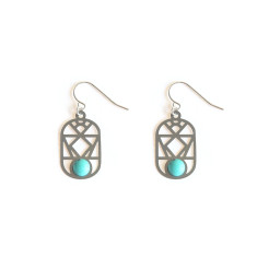 Stainless Steel Nevada Earrings Turquoise