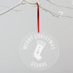 Personalised Stocking Christmas Decoration