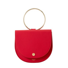 Cute Leather Evening Clutch Bag In Red