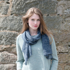 Alpaca & Linen Ladder Stitch Scarf