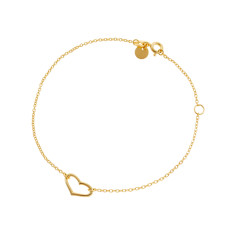 Open heart bracelet gold vermeil