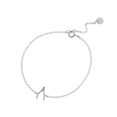 Wishbone bracelet in sterling silver