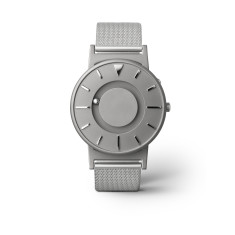 Bradley classic silver watch