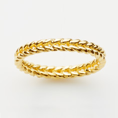 Braid ring in gold or rose gold plate