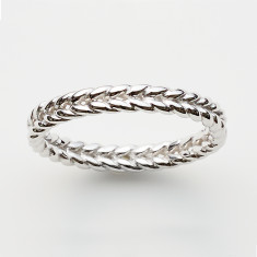 Braid ring in silver